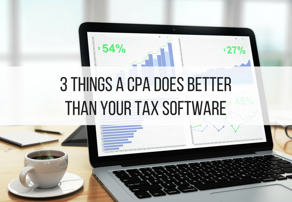 3 things a cpa does better than your tax software finance tips when it comes to preparing your tax return personal or business you have three options you can do it yourself by hand use a tax software or hire a cpa solutioingenieria Gallery